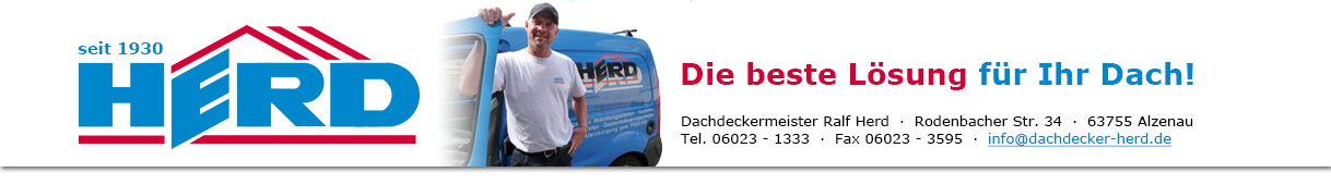 Dachdeckermeister Ralf Herd